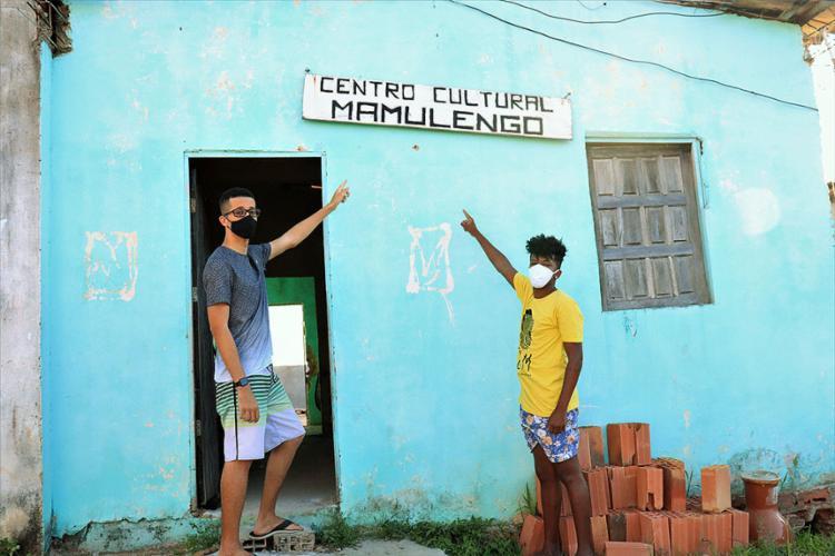 Mateus Bahia e Natan Silva destacam desafios para manter atividades e parcerias   Foto: Eduardo Machado   Agência Mural - Foto: Eduardo Machado   Agência Mural