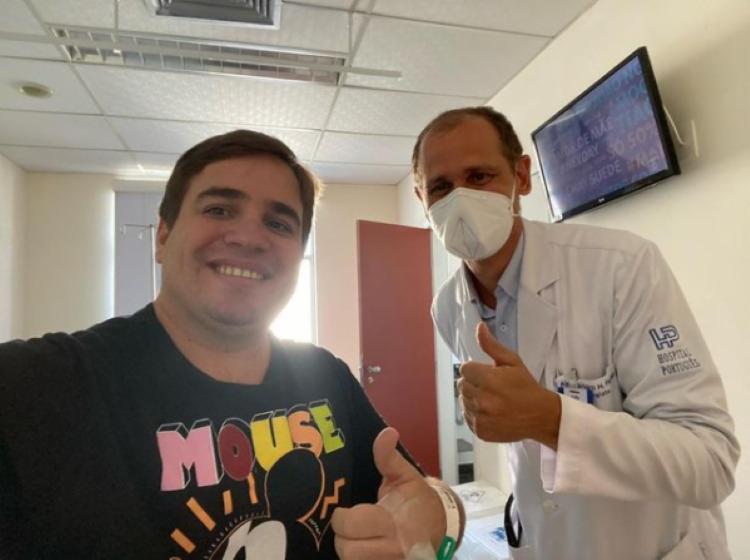 Apresentador estava internado no Hospital Português, em Salvador, há 10 dias e chegou a ter 50% do pulmão comprometido I Foto: Instagram - Foto: Instagram
