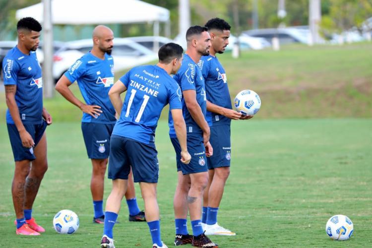 Jogadores do Tricolor se preparam para duelo | Foto: Felipe Oliveira | EC Bahia - Foto: Felipe Oliveira | EC Bahia