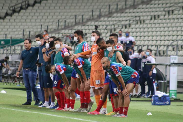Treinador falou em coletiva após classificação para final da Copa do Nordeste   Foto: Rafael Machaddo   E.C.Bahia - Foto: Rafael Machaddo   E.C.Bahia