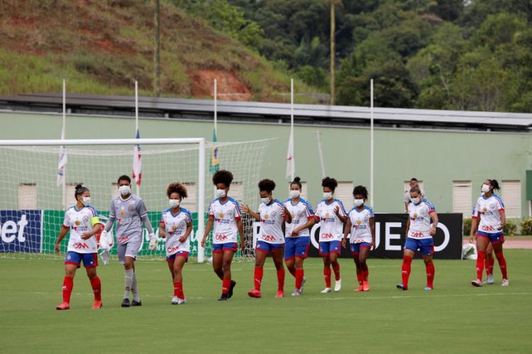 O time feminino do Esquadrão soma um ponto nas duas primeiras partidas | Foto: Felipe Oliveira | EC Bahia - Foto: Felipe Oliveira | EC Bahia