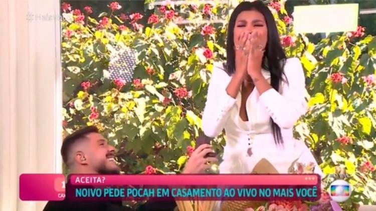 Na ocasião, Ana Maria foi até convidada para ser madrinha do relacionamento   Foto: Reprodução   TV Globo - Foto: Reprodução   TV Globo