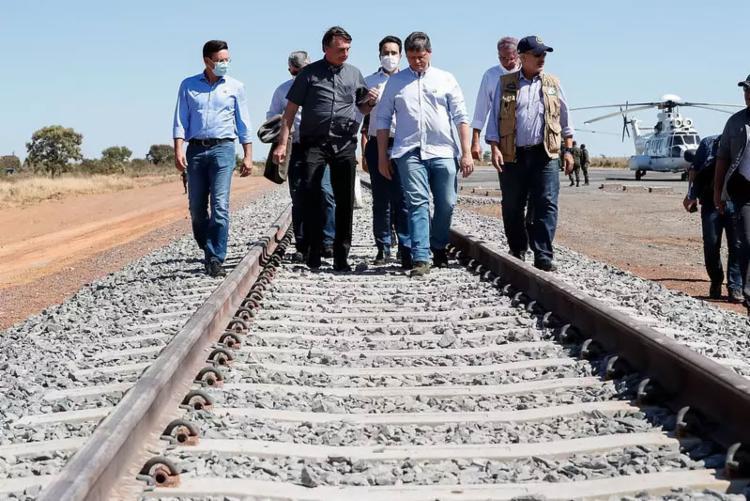 O governo federal arrecadou R$ 32,7 milhões em leilão de trecho de Ferrovia de Integração Oeste-Leste (FIOL), na Bahia   Foto: Alan Santos   PR - Foto: Alan Santos   PR