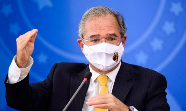 Não é a primeira vez que o titular da Economia faz prognósticos positivos em relação à pandemia —e nas vezes anteriores suas projeções acabaram frustradas. Foto: Agência Brasil - Foto: Agência Brasil