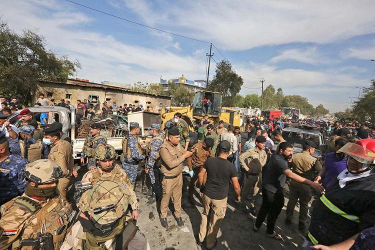 Pelo menos dois foguetes caíram sobre instalações de empresas americanas subcontratadas | Foto: Sabah Arar - Foto: Sabah Arar | AFP