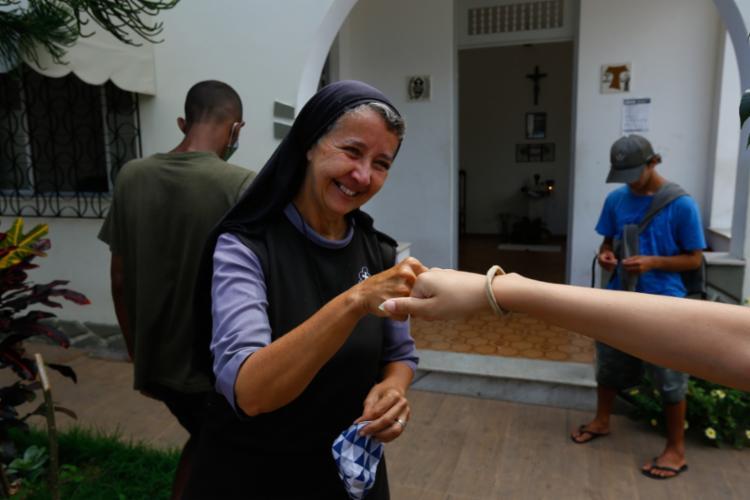 """""""A relação que vivo com Jesus é de esposa"""", diz irmã Violeta - Foto: Rafael Martins / Ag. A TARDE"""