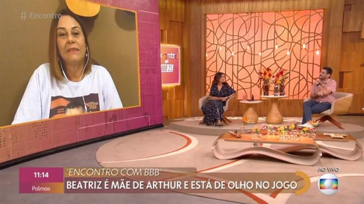 Mãe de Arthur, Beatriz Piccoli, comentou sobre comportamento do filho | Foto: Reprodução | TV Globo - Foto: Reprodução | TV Globo