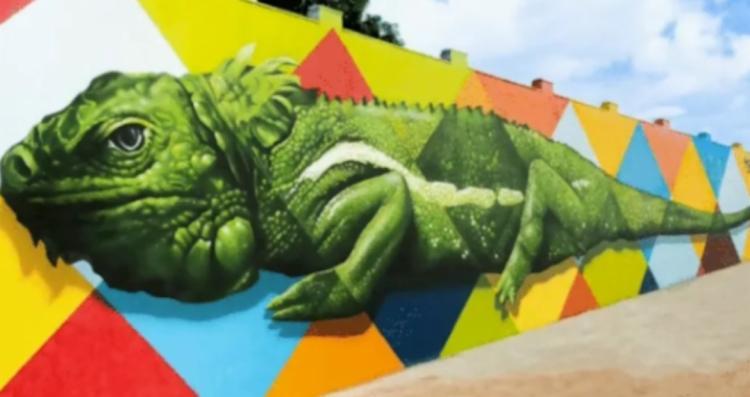Mural antes de ser deterioração