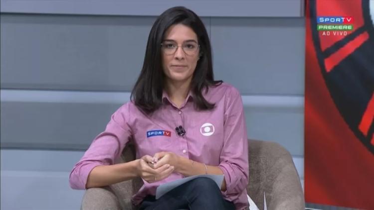 Renata Silveira foi ofendida por um torcedor do Botafogo após eliminação da equipe na Copa do Brasil | Foto: Reprodução | SporTV - Foto: Reprodução | SporTV