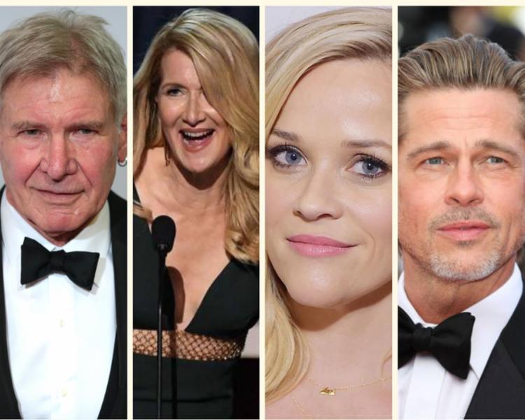 Harrison Ford, Laura Dern, Reese Witherspoon e Brad Pitt estão entre os principais apresentadores da cerimônia - Foto: Reprodução