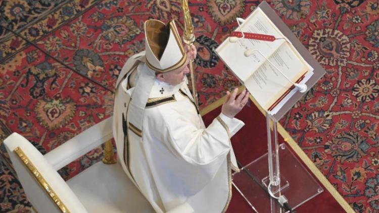 Pelo segundo ano a missa foi realizada sem público | Foto: Reprodução | Vatican News - Foto: Reprodução | Vatican News