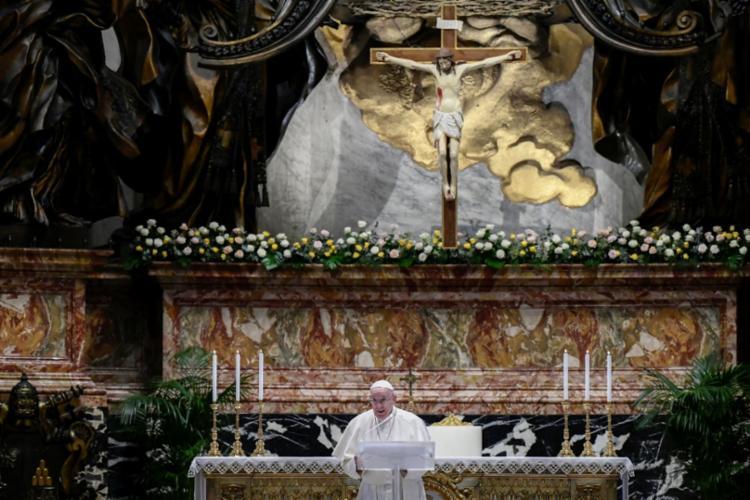 Papa apelou por ajuda pela vacinação de países pobres | Foto: Filippo Monteforte | AFP - Foto: Filippo Monteforte | AFP