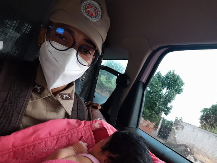 Criança foi encontrada após catador de reciclagem encontrar o bebê em uma caixa de papelão | Foto: Divulgação | PM - Foto: Divulgação | PM