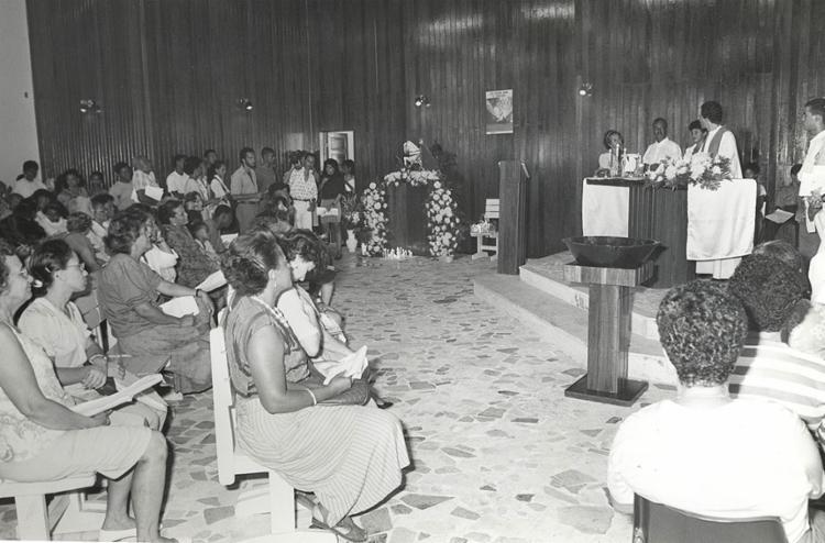 A única paróquia dedicada a São Jorge em Salvador foi criada em 1976 | Foto: Abmael Silva | Arquivo A TARDE | 23.1.1992 - Foto: Abmael Silva | Arquivo A TARDE | 23.1.1992