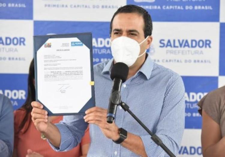Prefeito anunciou que cinco bairros serão beneficiados | Foto: Valter Pontes | Secom PMS - Foto: Valter Pontes | Secom PMS