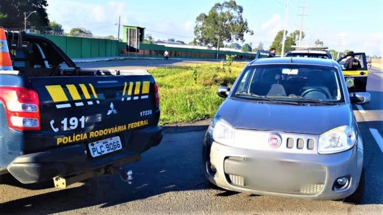 A captura ocorreu na rodovia, em trecho que pertence ao município de Feira de Santana | Foto: Divulgação | PRF - Foto: Divulgação | PRF