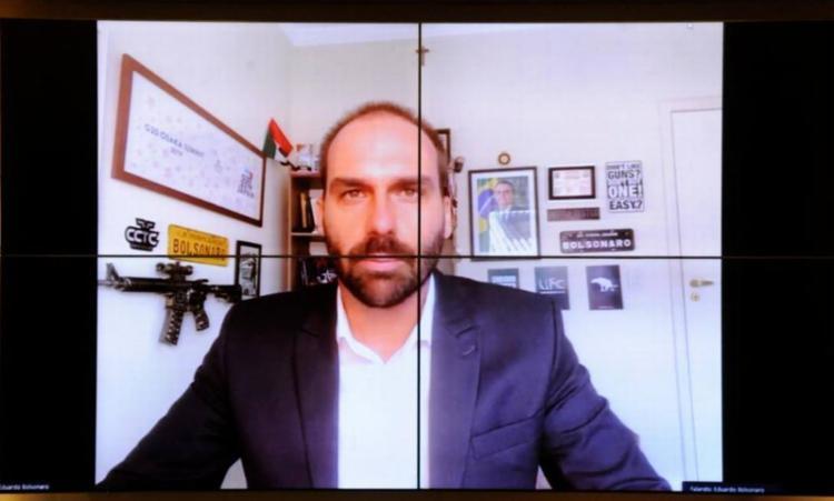 Em entrevista em 2019, o filho do presidente Jair Bolsonaro disse que se a esquerda radicalizasse, a resposta poderia ser um 'novo AI-5' I Foto: Câmara dos Deputados - Foto: Câmara dos Deputados