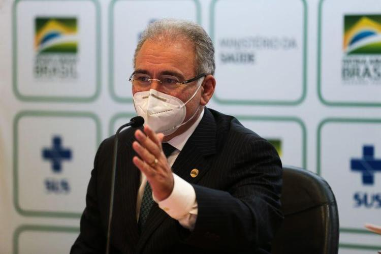 Ministro participou da abertura de seminário que avalia pesquisas ligadas ao enfrentamento da pandemia no país   Foto: Marcello Casal Jr.   Agência Brasil - Foto: Marcello Casal Jr.   Agência Brasil