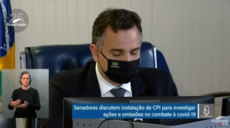 Rodrigo Pacheco leu requerimento de criação do colegiado / Foto: Reprodução | YouTube - Foto: Reprodução | YouTube