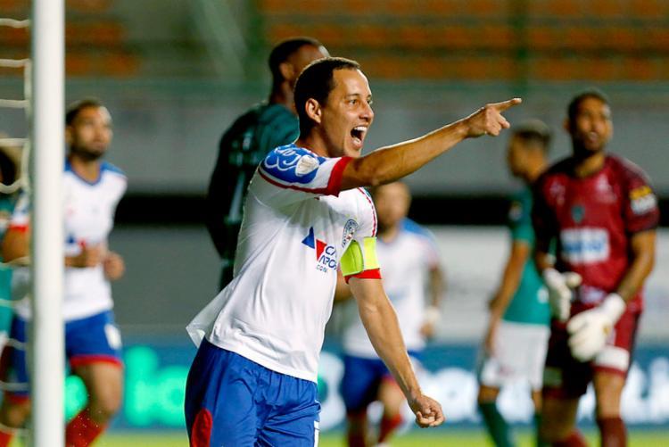 Rodriguinho foi o autor do primeiro gol do Esquadrão em Pituaçu   Foto: Felipe Oliveira   EC Bahia - Foto: Felipe Oliveira   EC Bahia