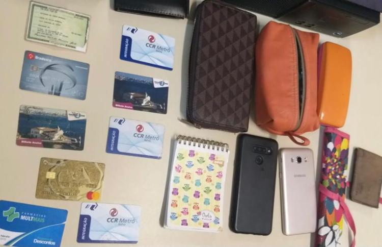 Material apreendido pela polícia com os suspeitos | Foto: Divulgação | Polícia Civil - Foto: Divulgação | Polícia Civil