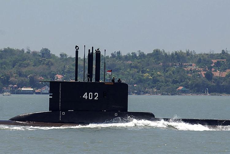 O submersível da Marinha indonésia, o