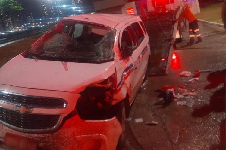Carro ficou parcialmente destruído | Foto: Divulgação | AGT - Foto: Divulgação | AGT