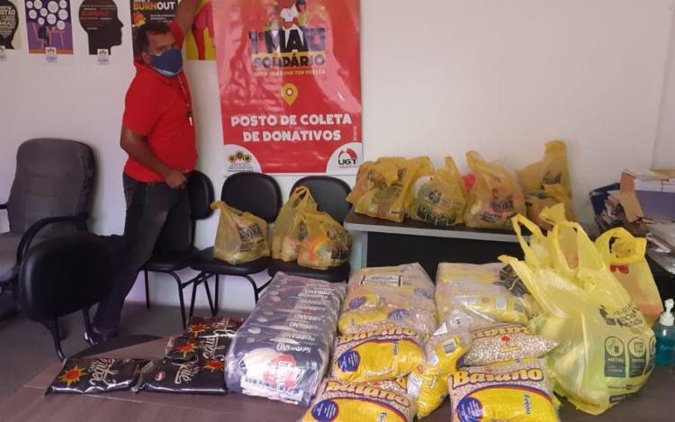 Sedes dos sindicatos filiados tabmém irão distribuir os alimentos arrecadados durante a campanha | Foto: Reprodução | Redes Sociais - Foto: Reprodução | Redes Sociais