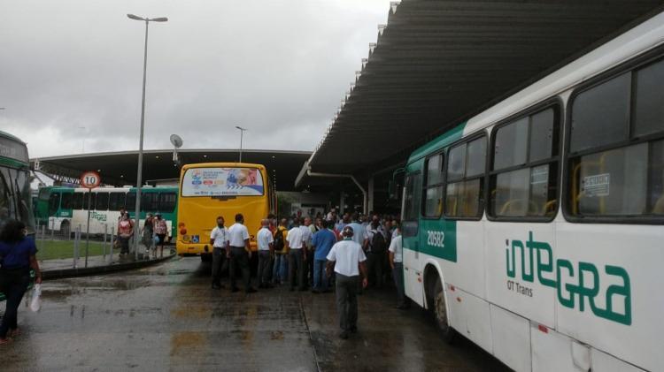 Motoristas e cobradores fecham Estação Pirajá após morte de colegas por Covid-19 | Foto: Dvulgação - Foto: Divulgação