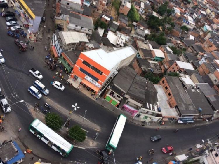 Segundo Transalvador, trânsito não foi afetado na região   Foto: SSP-BA   Divulgação - Foto: SSP-BA   Divulgação