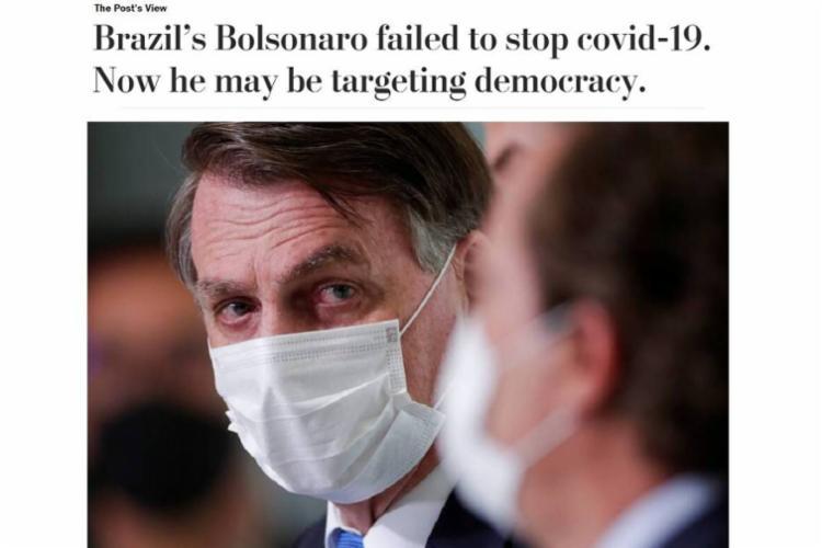 Bolsonaro falha no combate à Covid-19. Agora, ele está mirando a democracia.