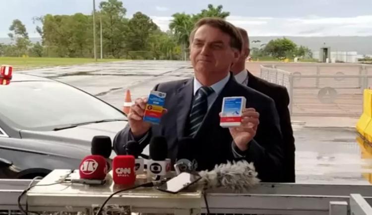Medicamentos foram constantemente recomendados pelo presidente Jair Bolsonaro, mesmo sem comprovação cientifica   Foto: Reprodução - Foto: Reprodução