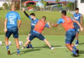 Bahia realiza último treino em Salvador antes de duelo pela