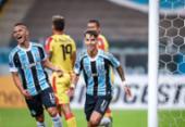 Em estreia de Tiago Nunes, Grêmio goleia por 8 a 0 na Sul-Americana | Foto: