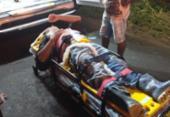 Idoso perde controle de motocicleta e atropela quatro pessoas na BA-130 | Foto: Reprodução | Giro Ipiaú