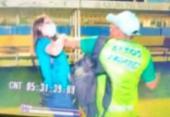 Repórter é agredida por membro de clube após gravar briga no Campeonato Piauiense | Foto: Reprodução