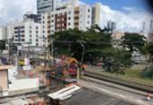Trânsito na Av. Paulo VI é bloqueado devido à obra emergencial | Foto: Cidadão Repórter | via Whatsapp