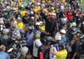 Bolsonaro é multado por falta de máscara em 'motociata' | Reprodução | TV Globo
