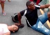 Suspeitos de assalto são espancados após acidente | Reprodução | Redes Sociais