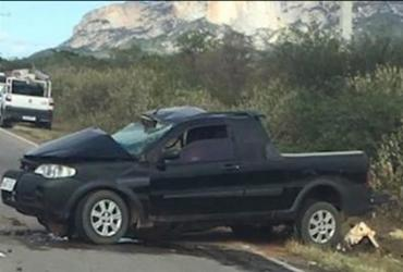 As vítimas estavam em uma picape, que colidiu com um veículo oficial da prefeitura de Livramento de Nossa Senhora | Foto: Reprodução - Reprodução