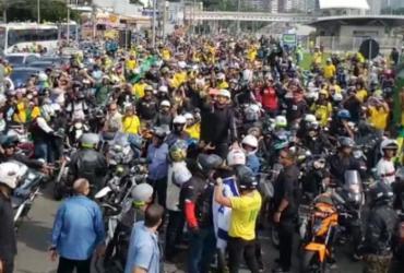Governo de Doria multa Bolsonaro por andar sem máscara em 'motociata' | Reprodução | TV Globo
