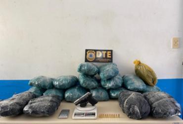 Suspeito de homicídio é preso com 17 kg de maconha em Feira de Santana