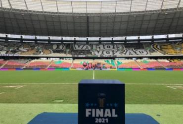 Com direito a mosaico, Arena Castelão está pronta para decisão da Copa do Nordeste | Reprodução | Twitter