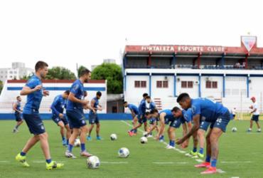 No CT do Fortaleza, Bahia fecha preparação para decisão da Copa do Nordeste | Felipe Oliveira | EC Bahia