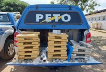 Homem é preso com quase 100 tabletes de maconha em LEM