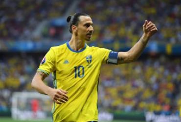 Ibrahimovic se lesiona e está fora da seleção da Suécia na Eurocopa | Reprodução
