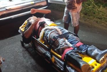 Idoso perde controle de motocicleta e atropela quatro pessoas na BA-130 | Reprodução | Giro Ipiaú