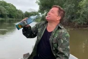 Leonardo come peixe vivo enquanto pesca: 'Estou pronto para o No Limite' | Reprodução | Instagram