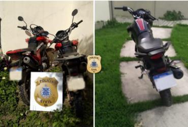 Três motocicletas são recuperadas pela Polícia Civil no sul do estado