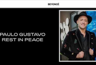Em site oficial, Beyoncé presta homenagem a Paulo Gustavo | Reprodução | Site Oficial de Beyoncé